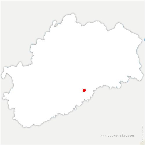 carte de localisation de Fontenois-lès-Montbozon