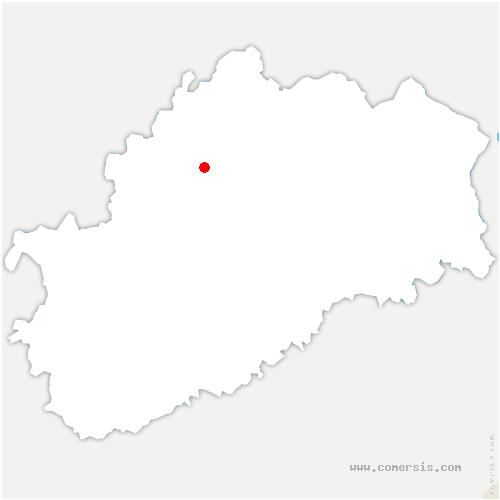 carte de localisation de Fouchécourt