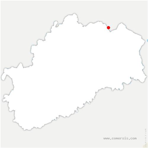 carte de localisation de Fougerolles-Saint-Valbert