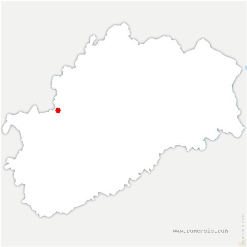 carte de localisation de Fouvent-Saint-Andoche