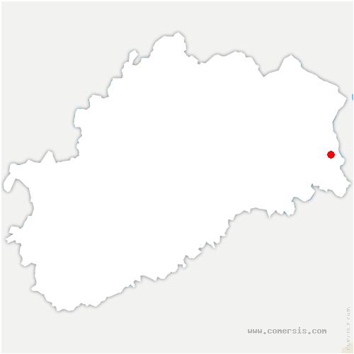 carte de localisation de Frahier-et-Chatebier