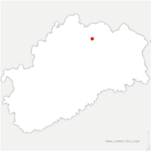 carte de localisation de Francalmont