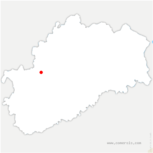 carte de localisation de Francourt