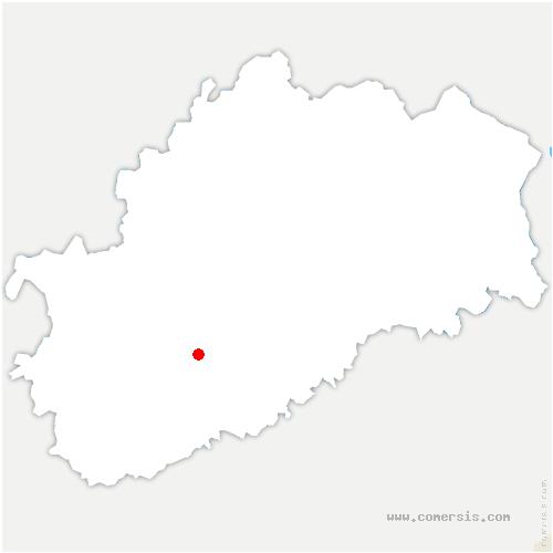 carte de localisation de Frasne-le-Château