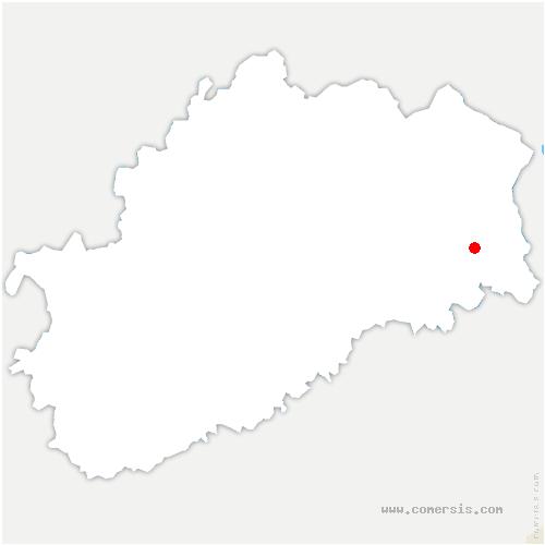 carte de localisation de Frédéric-Fontaine