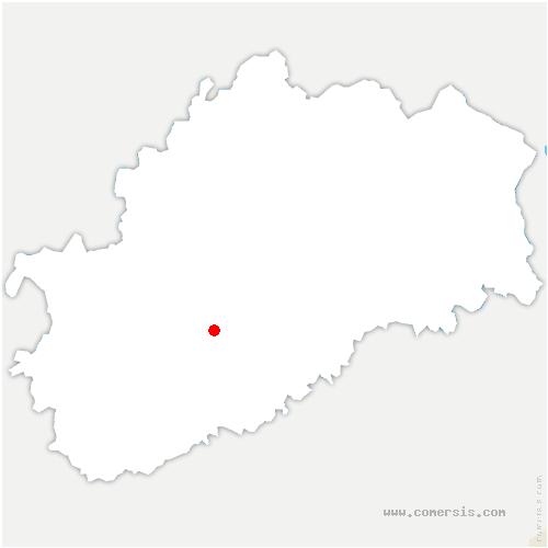 carte de localisation de Fretigney-et-Velloreille
