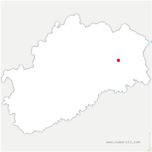 carte de localisation de Froideterre
