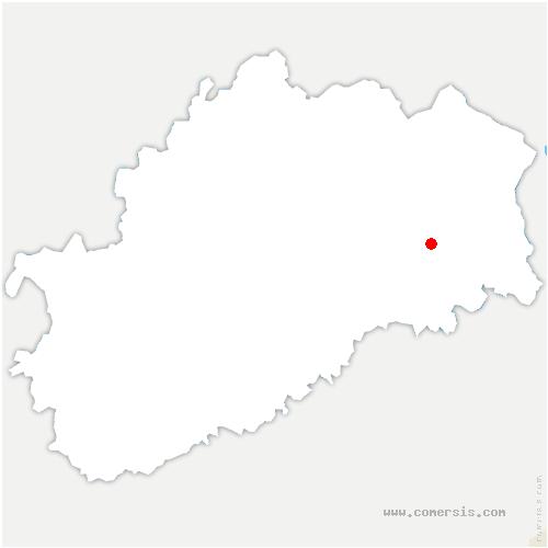 carte de localisation de Frotey-lès-Lure