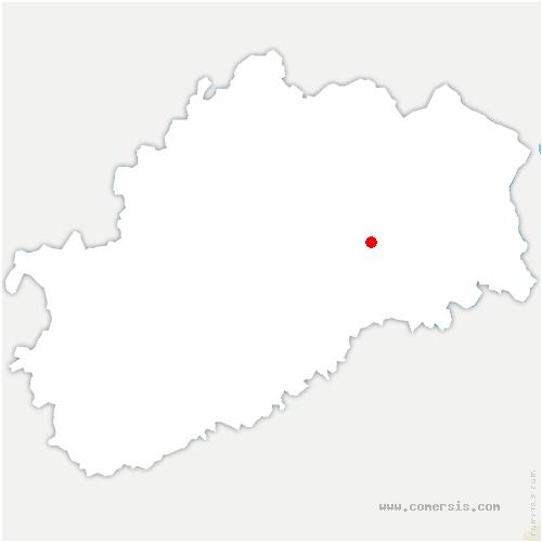 carte de localisation de Genevreuille