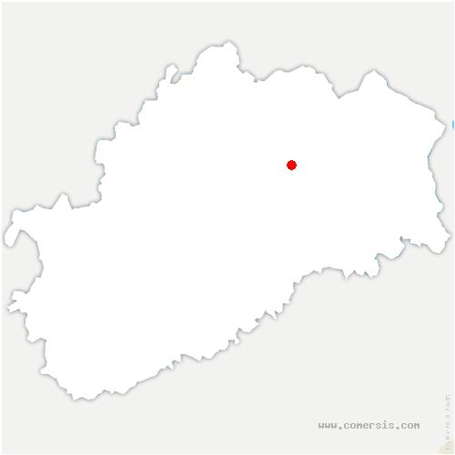 carte de localisation de Genevrey