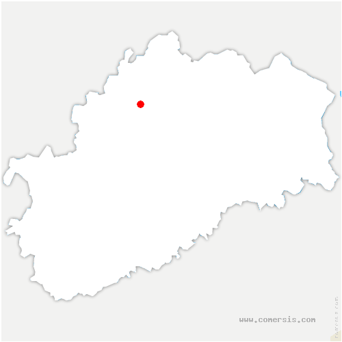 carte de localisation de Gevigney-et-Mercey
