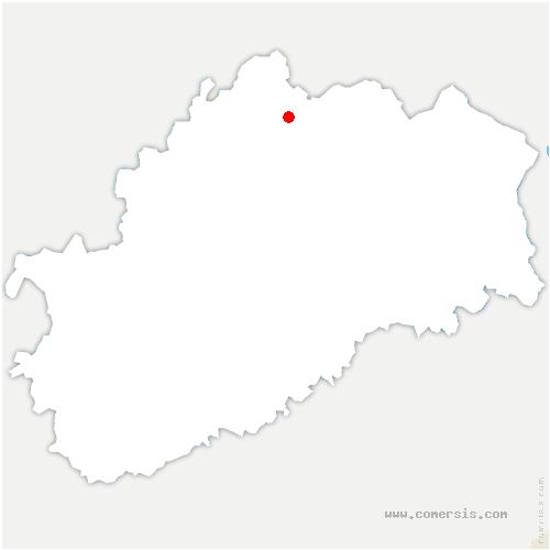 carte de localisation de Girefontaine