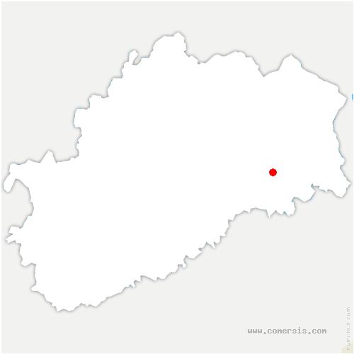 carte de localisation de Gouhenans