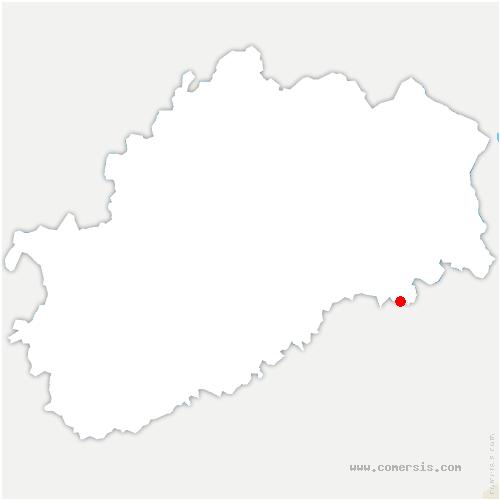 carte de localisation de Grammont