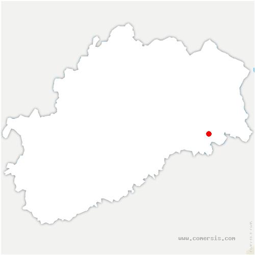 carte de localisation de Granges-la-Ville