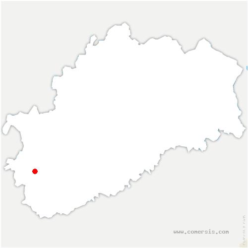 carte de localisation de Gray-la-Ville
