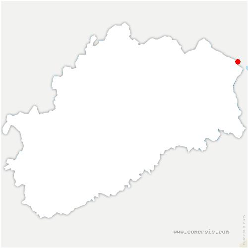 carte de localisation de Haut-du-Them-Château-Lambert