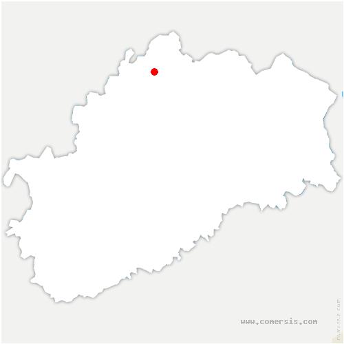 carte de localisation de Hurecourt