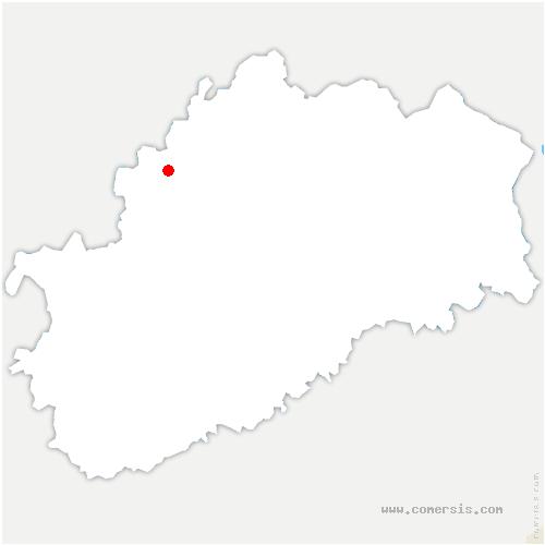 carte de localisation de Jussey