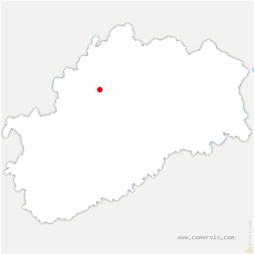 carte de localisation de Lambrey