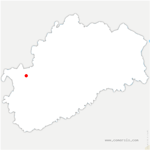carte de localisation de Larret