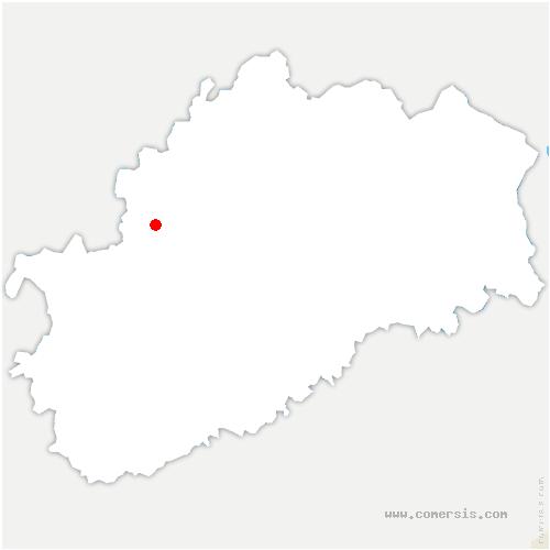 carte de localisation de Lavigney