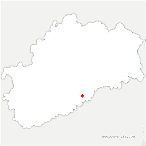 carte de localisation de Loulans-Verchamp