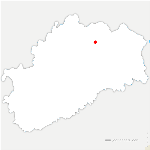 carte de localisation de Luxeuil-les-Bains