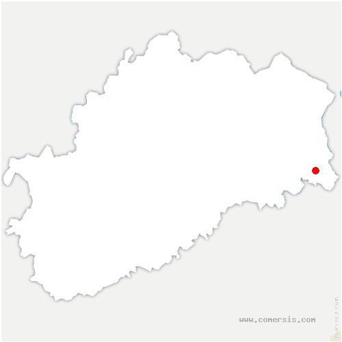 carte de localisation de Luze