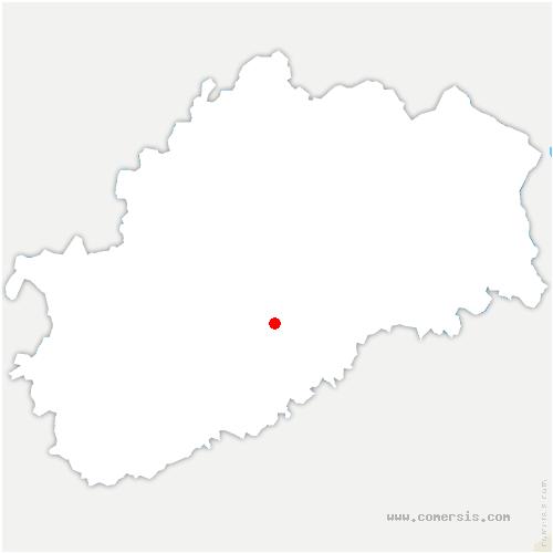 carte de localisation de Magnoray