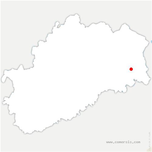 carte de localisation de Magny-Jobert