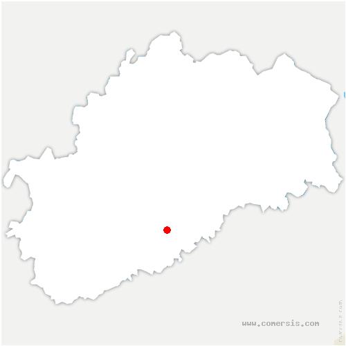 carte de localisation de Malachère