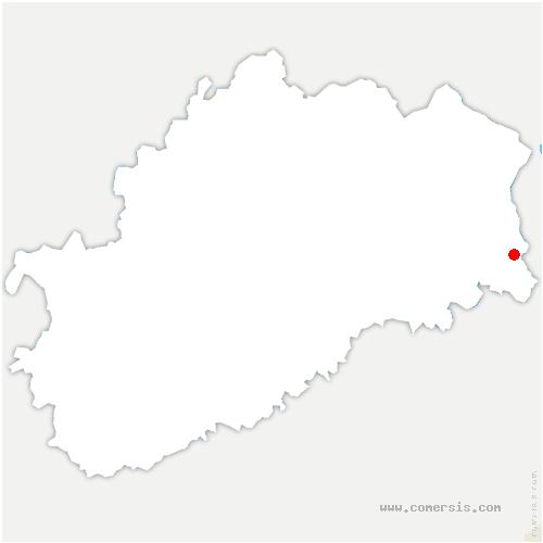 carte de localisation de Mandrevillars