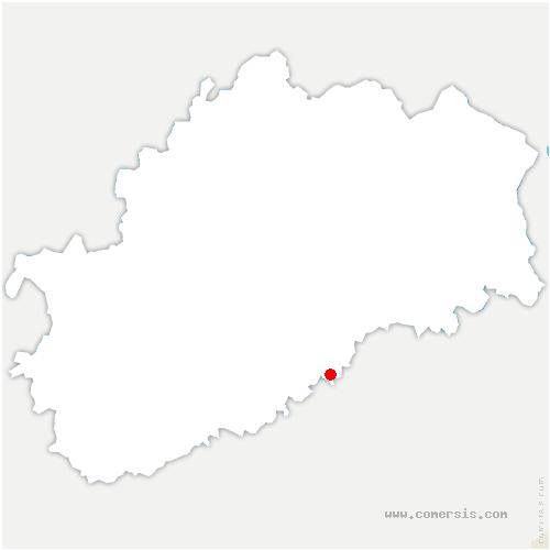 carte de localisation de Maussans