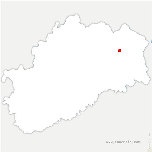 carte de localisation de Mélisey