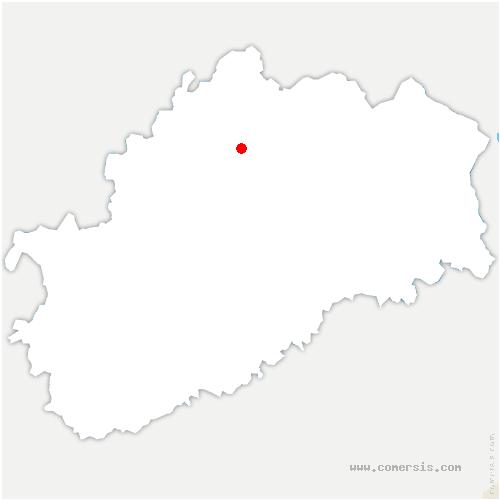 carte de localisation de Menoux