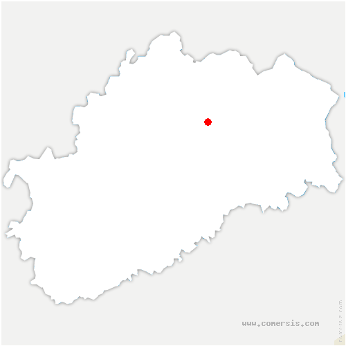 carte de localisation de Meurcourt