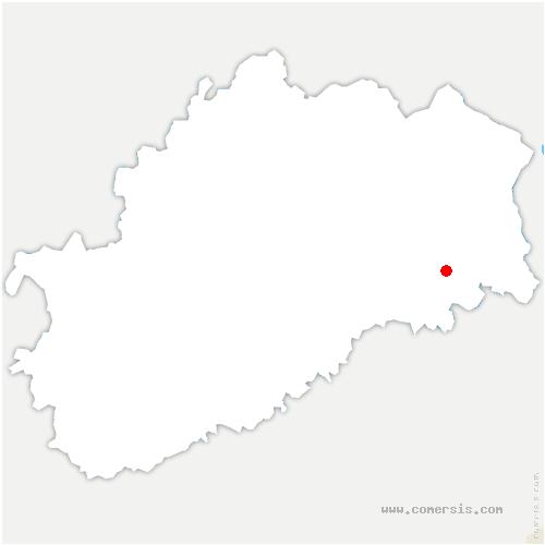 carte de localisation de Mignavillers