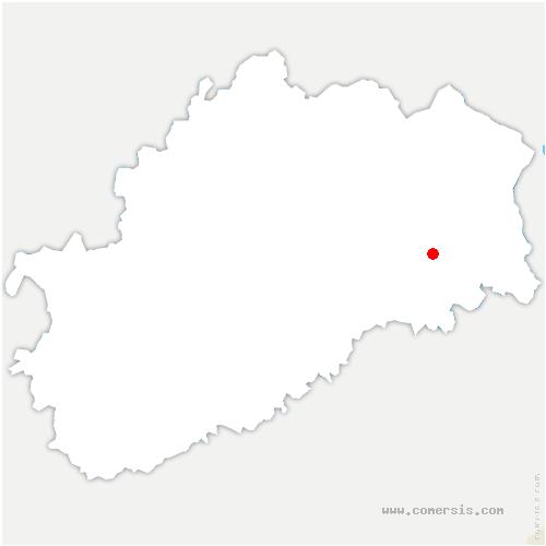 carte de localisation de Moffans-et-Vacheresse