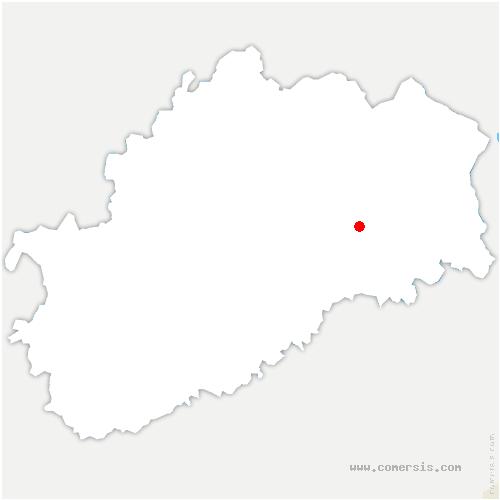 carte de localisation de Mollans