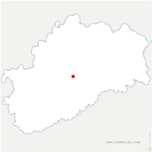 carte de localisation de Mont-le-Vernois