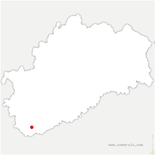 carte de localisation de Montagney