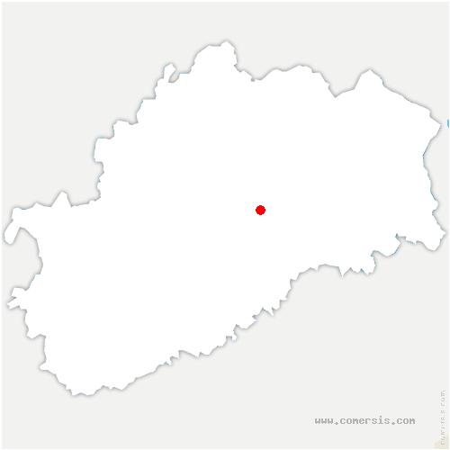 carte de localisation de Montcey