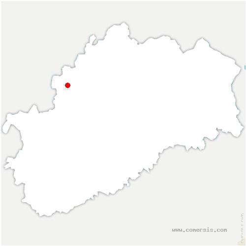 carte de localisation de Montigny-lès-Cherlieu