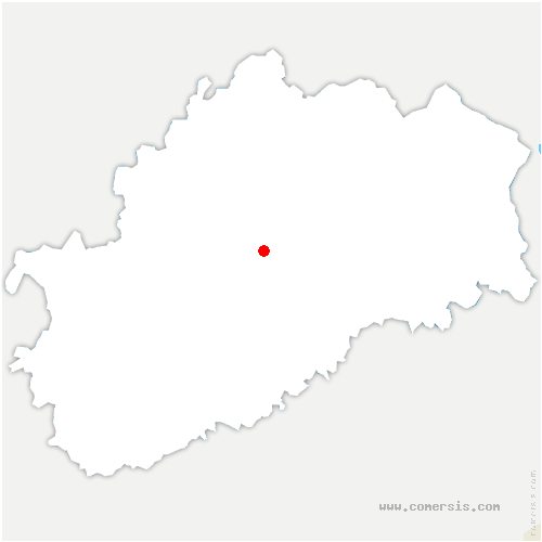 carte de localisation de Montigny-lès-Vesoul