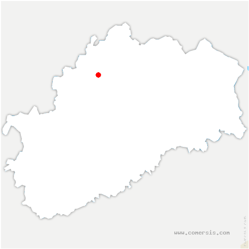 carte de localisation de Montureux-lès-Baulay