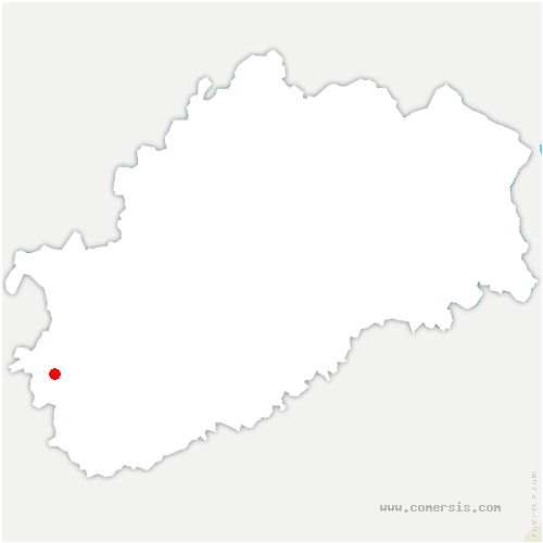 carte de localisation de Nantilly