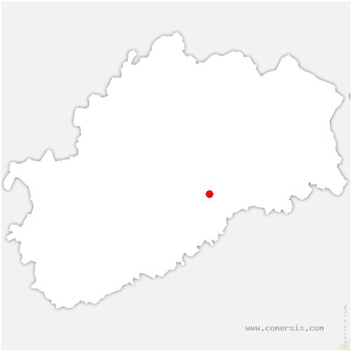 carte de localisation de Neurey-lès-la-Demie