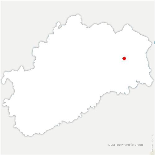 carte de localisation de Neuvelle-lès-Lure