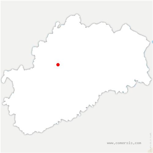 carte de localisation de Neuvelle-lès-Scey